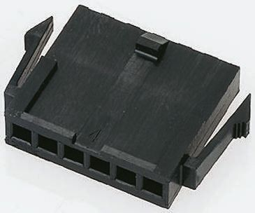 TE Connectivity , Micro MATE-N-LOK Male Connector Housing, 3mm Pitch, 5 Way, 1 Row (10)