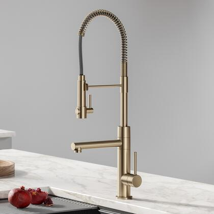 KPF-1603SFACB Artec Pro 2-Function Commercial Style Pre-Rinse Kitchen Faucet with Pull-Down Spring Spout and Pot Filler in Spot Free Antique