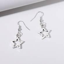 Star Charm Drop Earrings