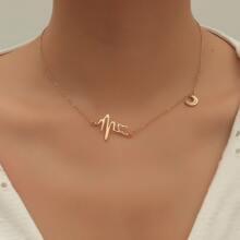 Halskette mit Mond Anhaenger