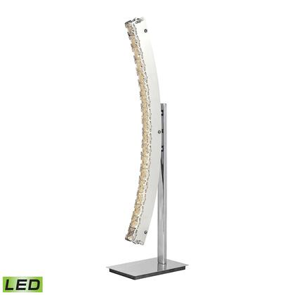 D2711 11W LED Table Lamp With Crystal And Chrome Finish  In