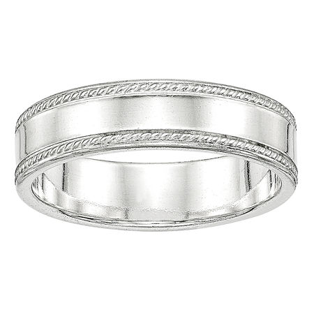 Personalized 6MM Sterling Silver Wedding Band, 4 , No Color Family