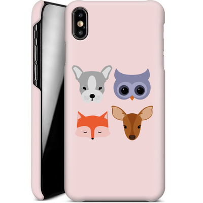 Apple iPhone XS Max Smartphone Huelle - Animal Friends on Pink von caseable Designs