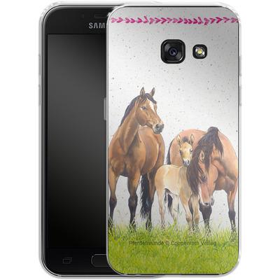 Samsung Galaxy A3 (2017) Silikon Handyhuelle - Pferdefreunde Familie von Pferdefreunde