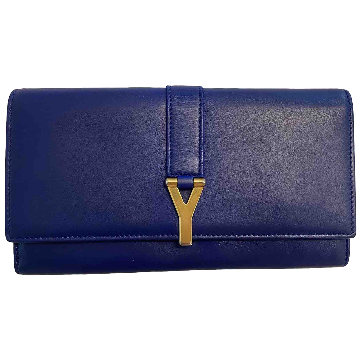 Saint Laurent Chyc Blue Leather wallet for Women \N