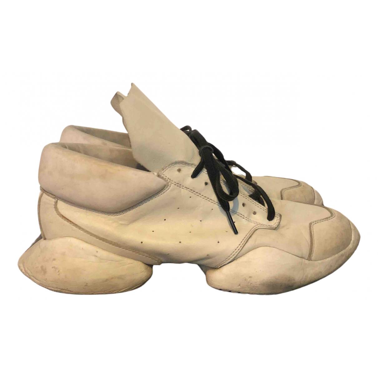 Adidas & Rick Owens \N Sneakers in  Weiss Leder
