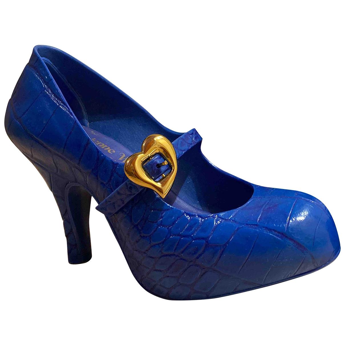 Vivienne Westwood Anglomania \N Clogs in  Blau Kautschuk