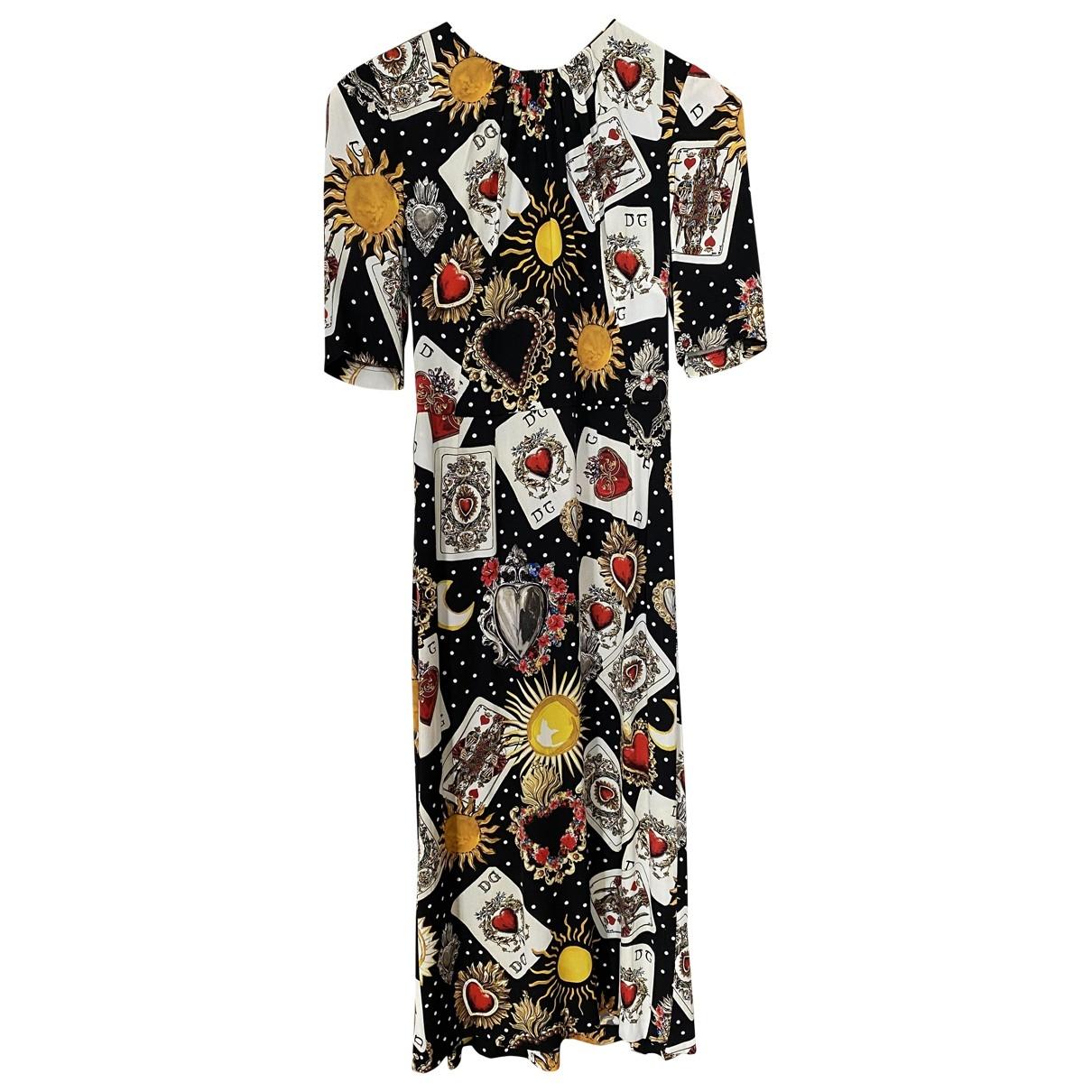 Dolce & Gabbana \N Multicolour Silk dress for Women 40 IT