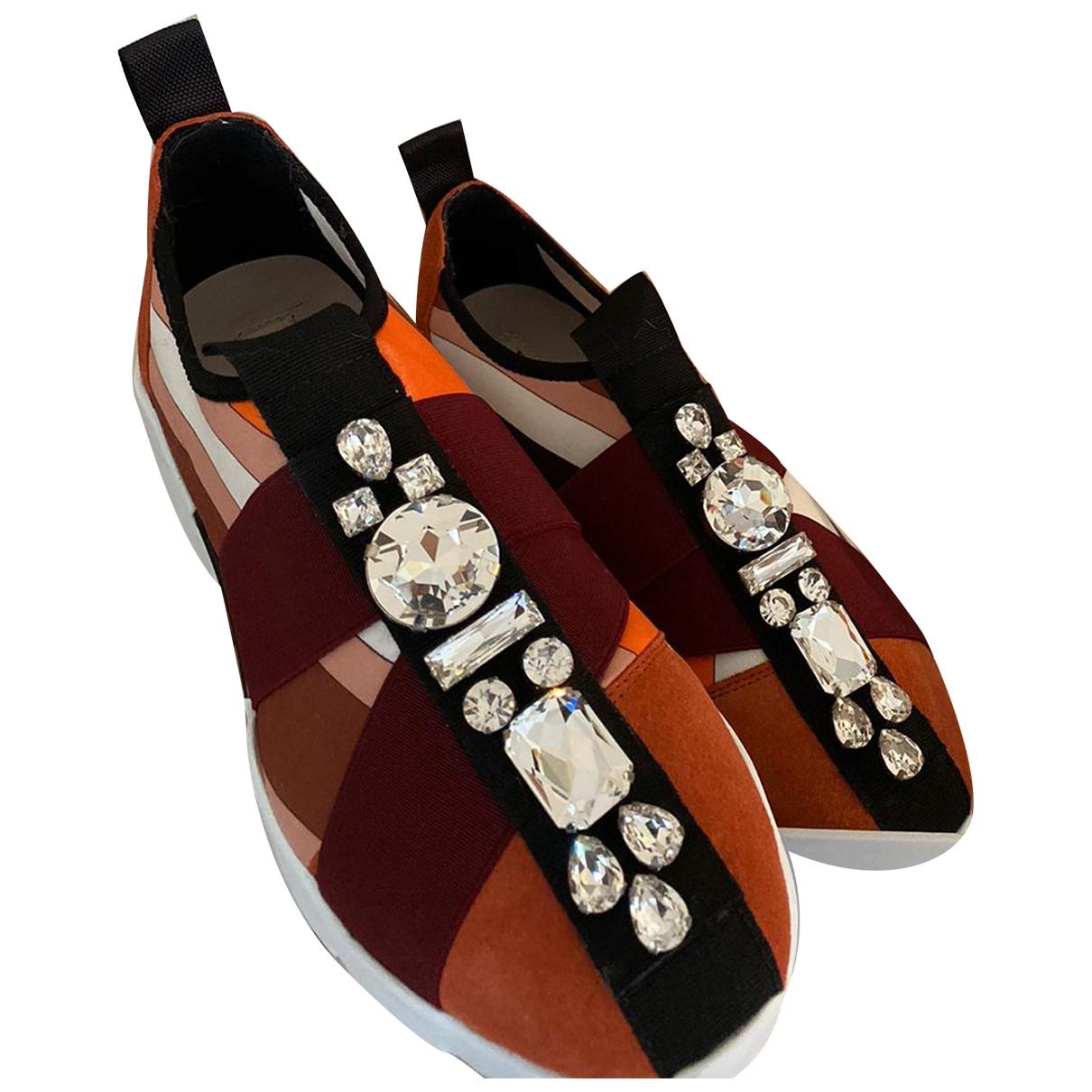 Emilio Pucci - Baskets   pour femme en toile - orange