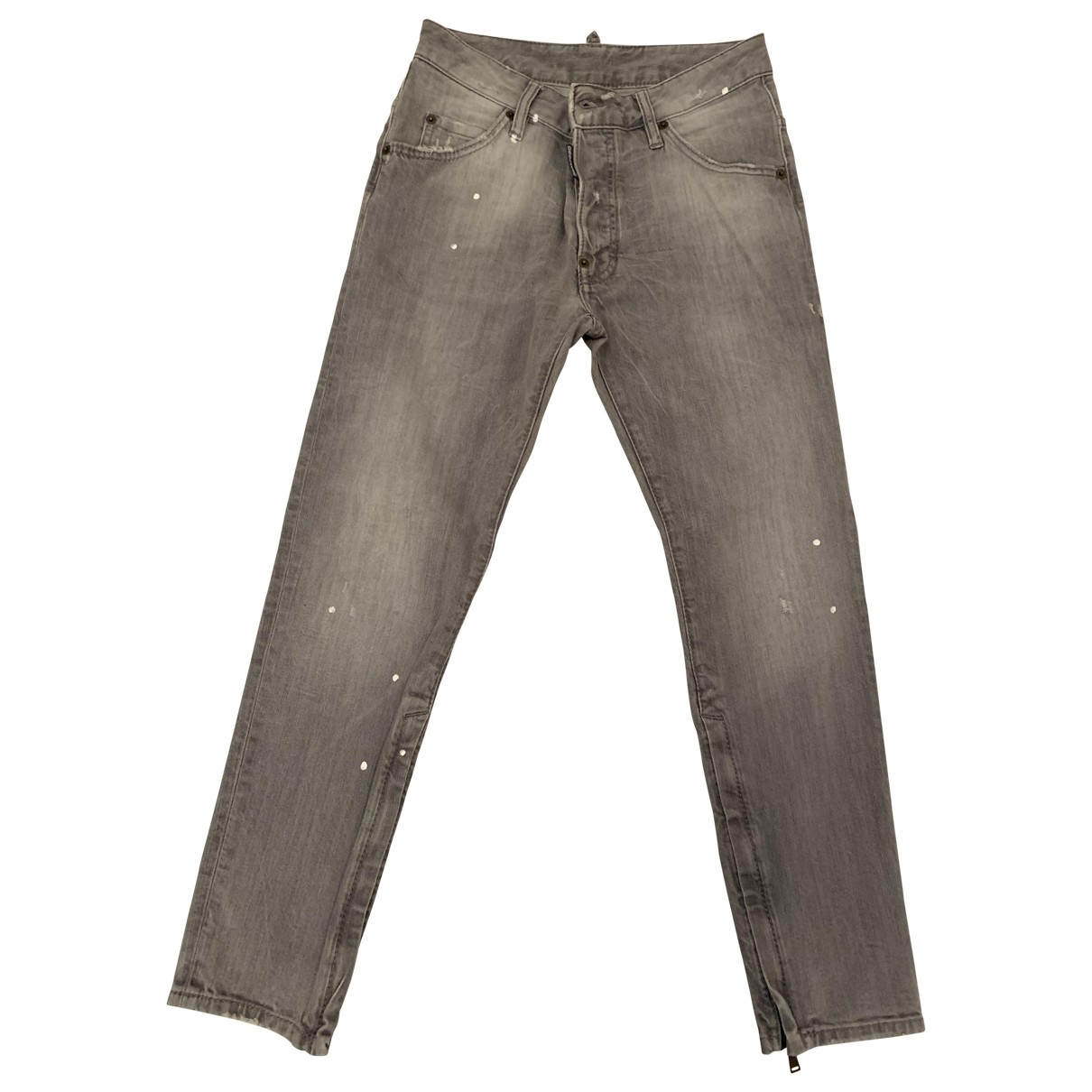 Dsquared2 \N Grey Cotton Jeans for Women 36 FR
