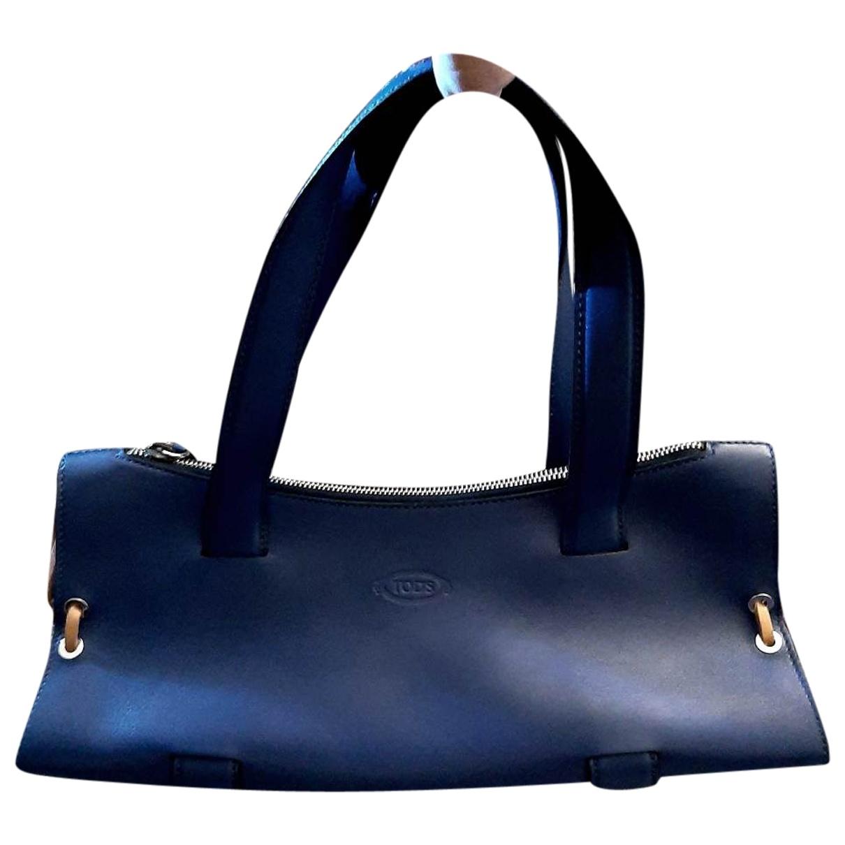 Tod's \N Blue Leather handbag for Women \N