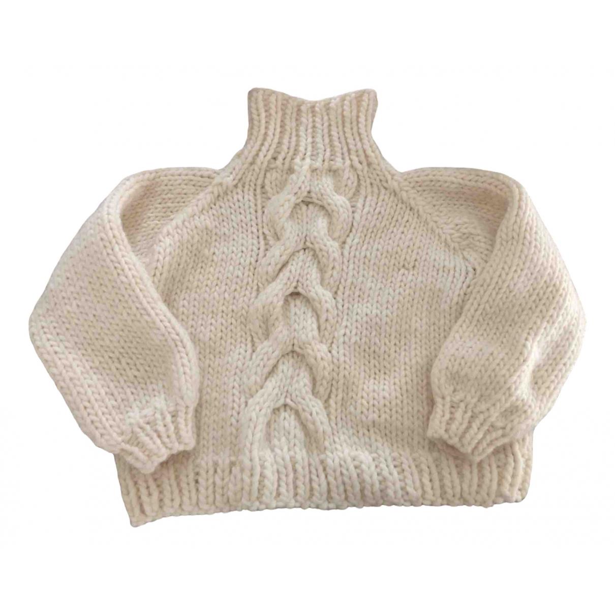 I Love Mr Mittens - Pull   pour femme en laine - beige