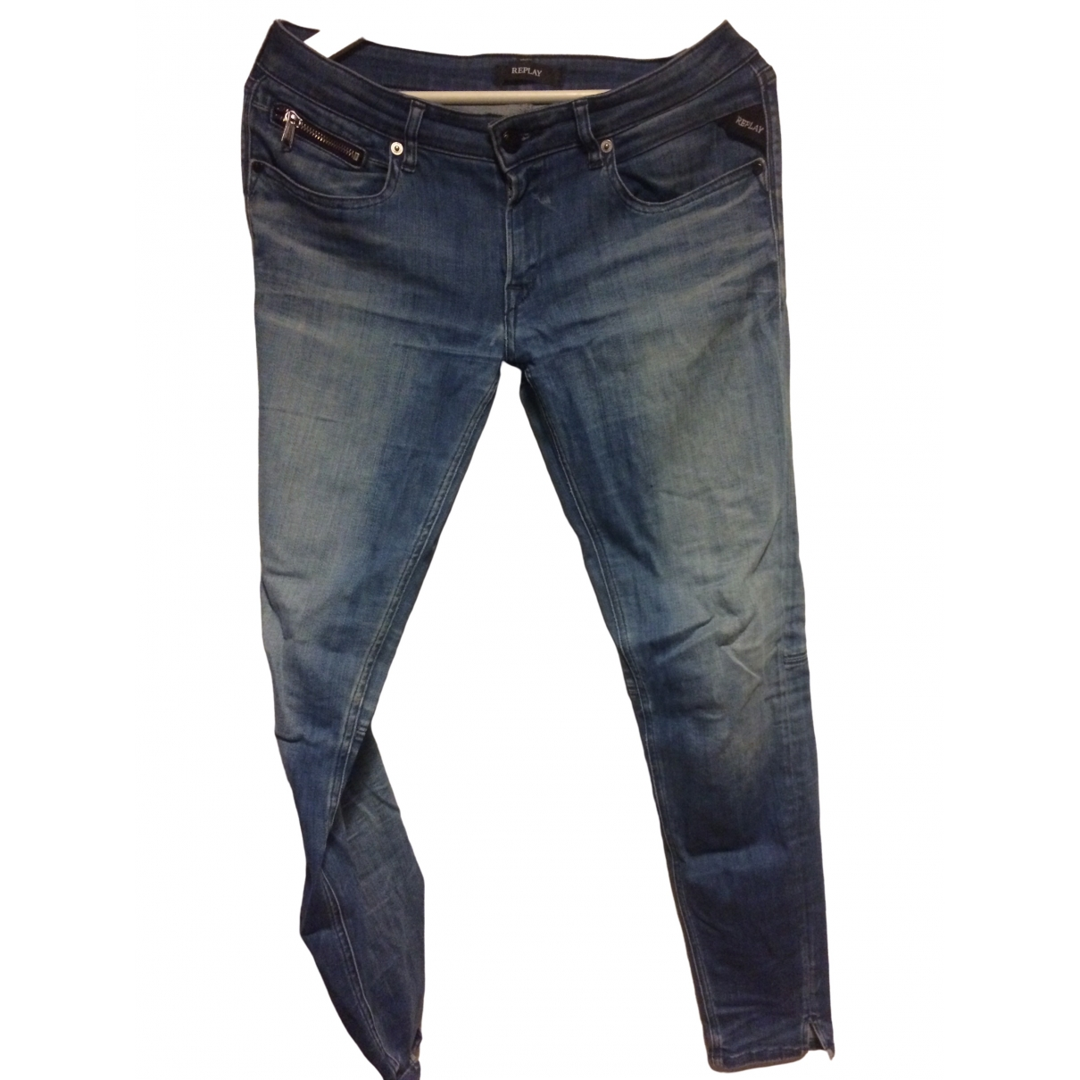 Replay \N Blue Denim - Jeans Jeans for Women 31 US
