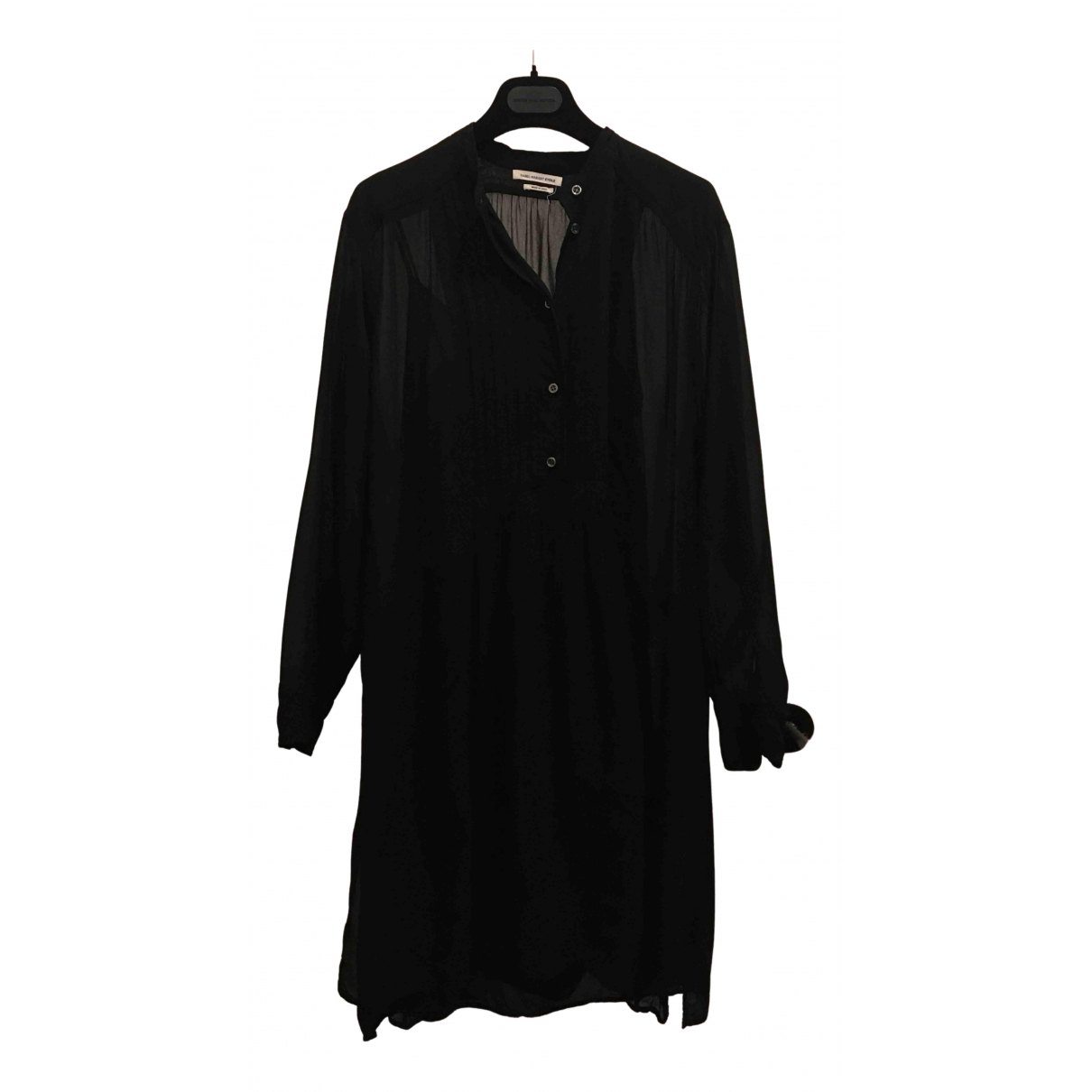 Isabel Marant Etoile \N Kleid in  Schwarz Viskose