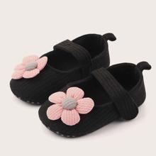 Baby Maedchen Flats mit Blumen Dekor und Klettverschluss