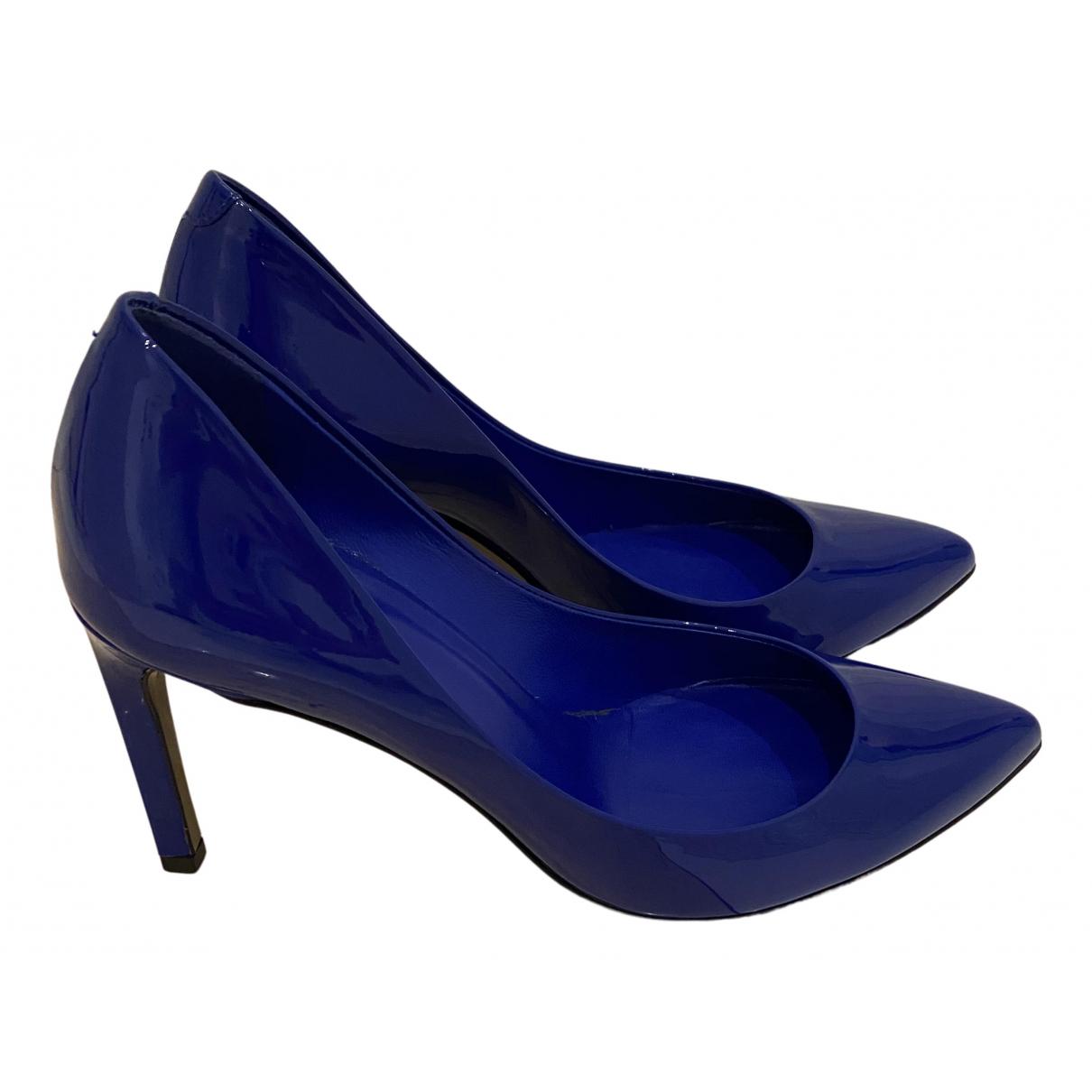 Gucci N Blue Leather Heels for Women 35 EU