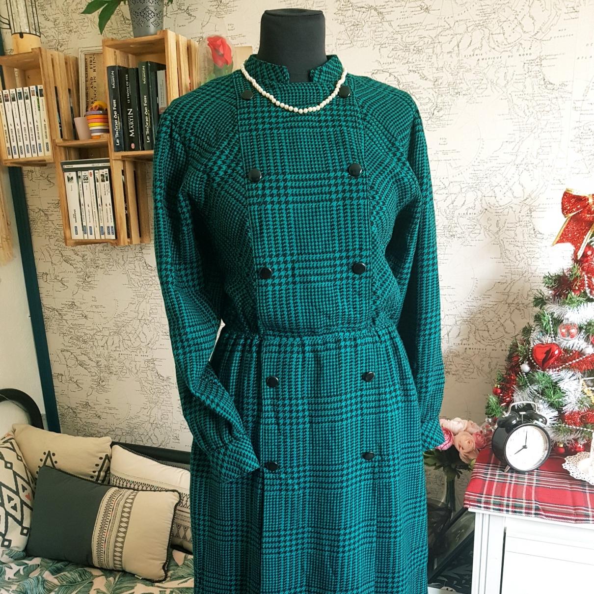 - Robe   pour femme en coton - vert