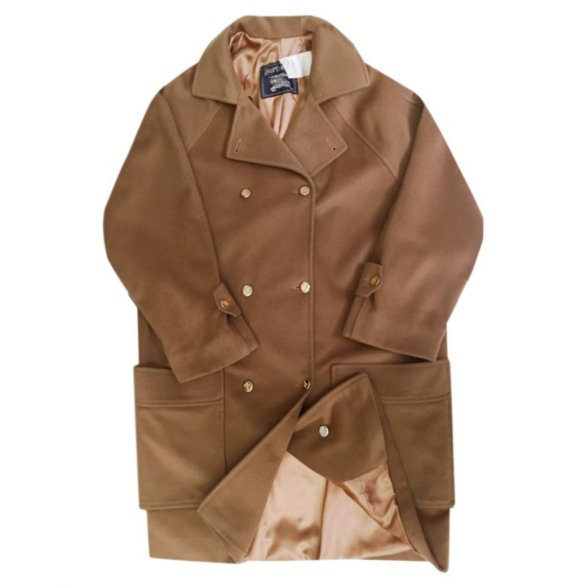 Burberry \N Brown Wool coat for Women 42 FR