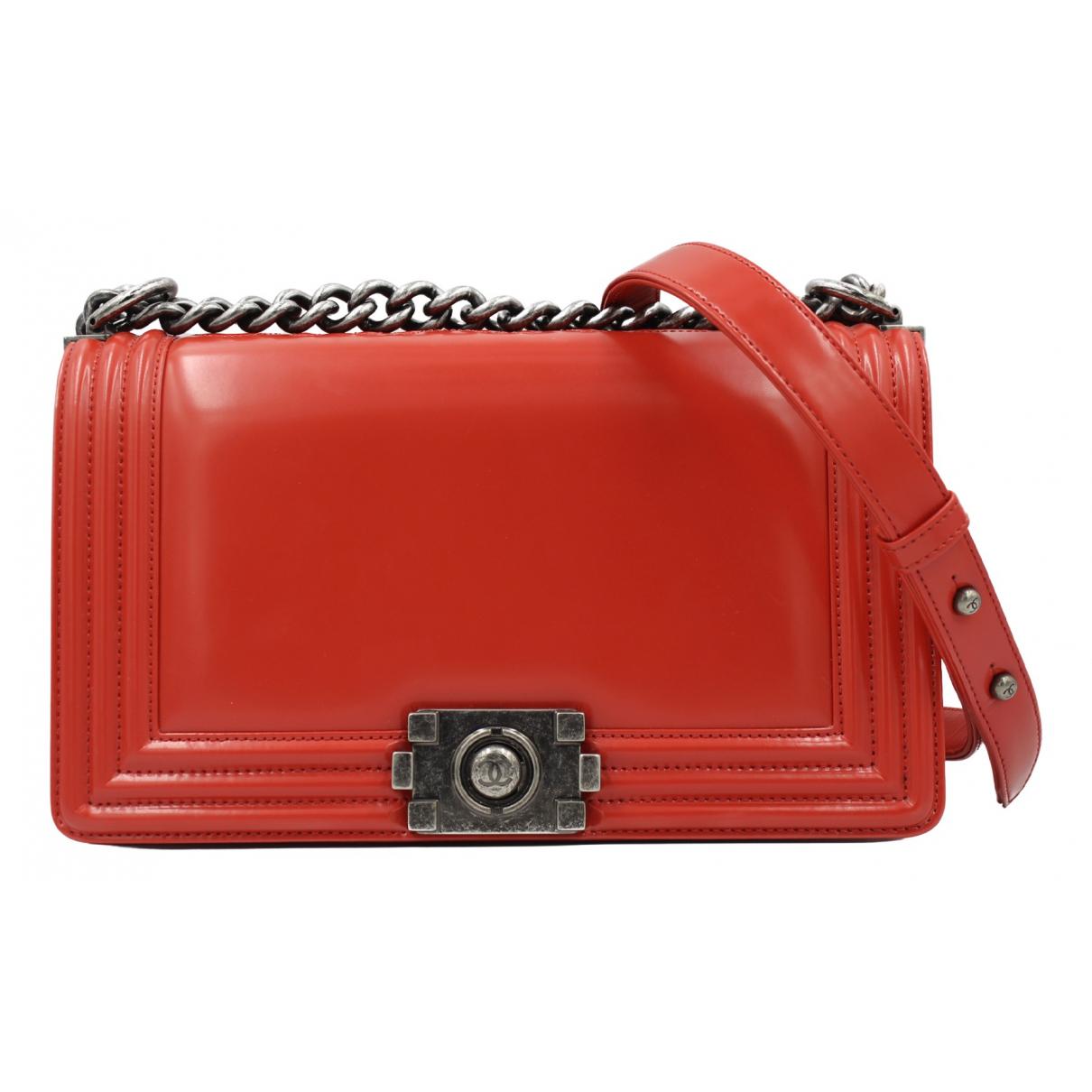 Chanel - Sac a main Boy pour femme en cuir - rouge