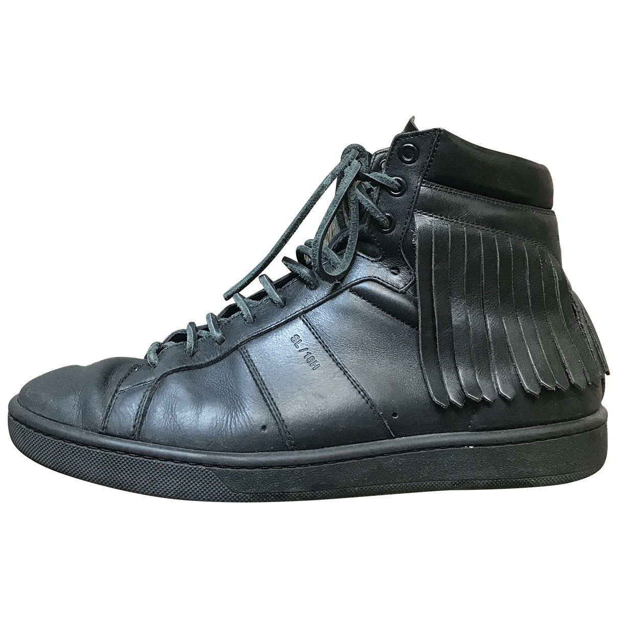 Saint Laurent SL/100H Black Leather Trainers for Men 40 EU