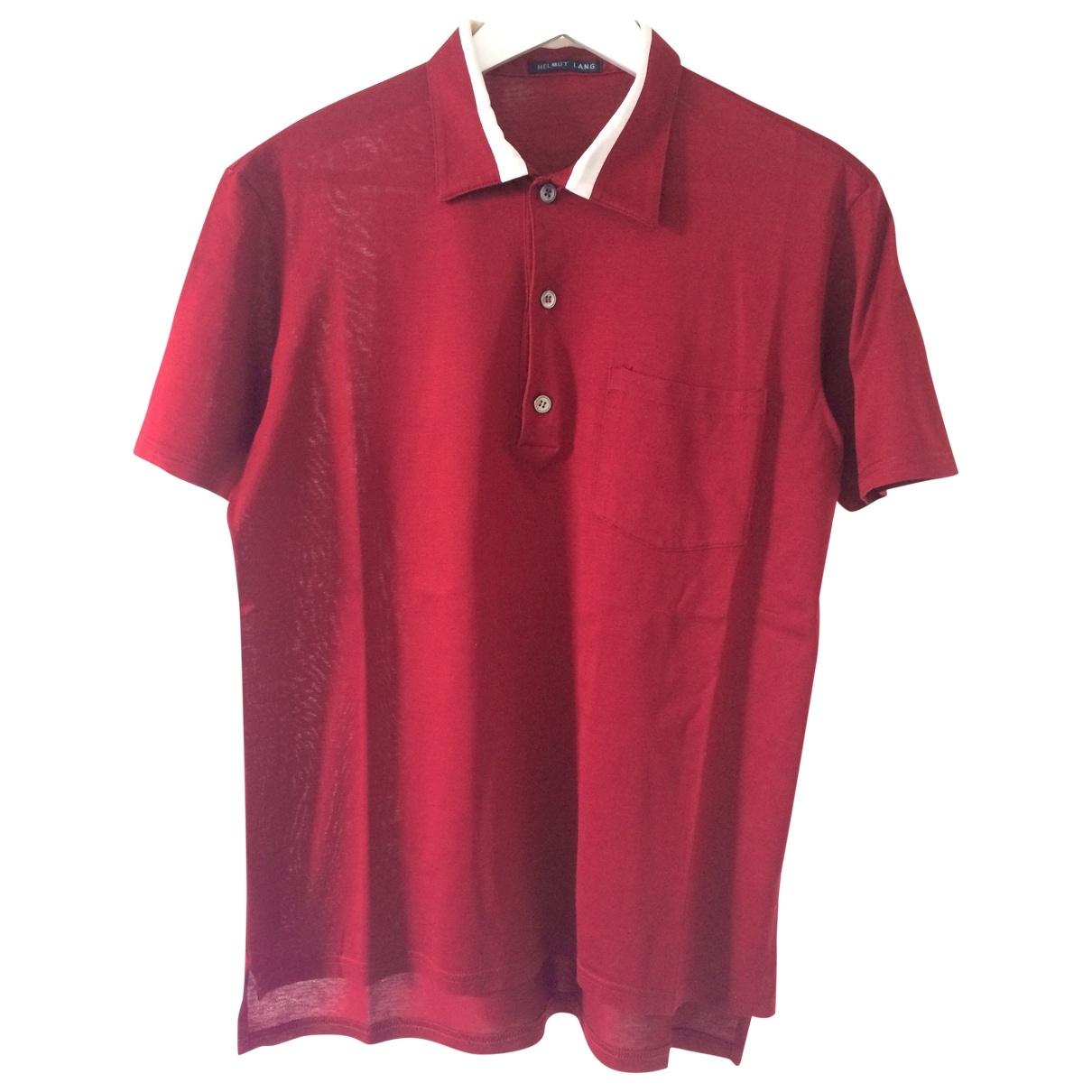 Helmut Lang - Polos   pour homme en coton - rouge