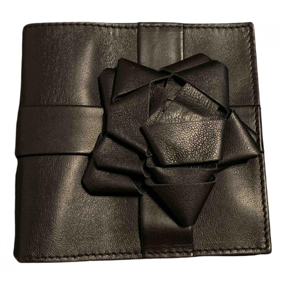 Maison Martin Margiela - Portefeuille   pour femme en cuir - noir