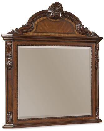 143121-2606 Old World - Crowned Landscape Mirror in