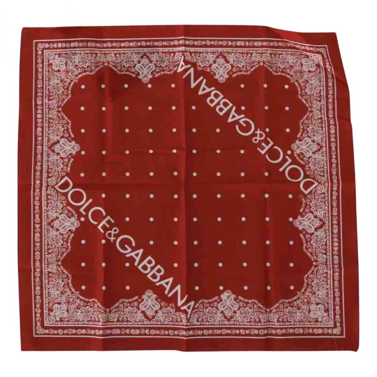 Dolce & Gabbana - Foulard   pour femme en coton - rouge