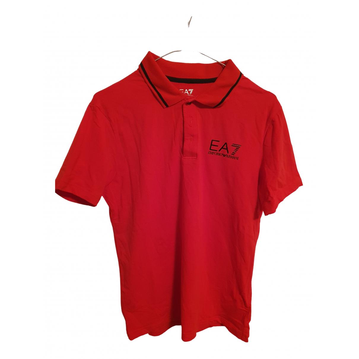 Emporio Armani - Polos   pour homme en coton - rouge