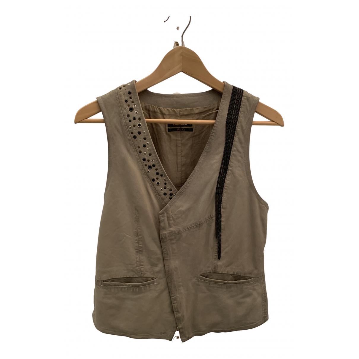 Diesel Black Gold \N Beige Leather Knitwear for Women S International