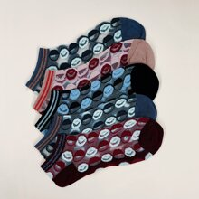 5 Paar Socken mit Streifen