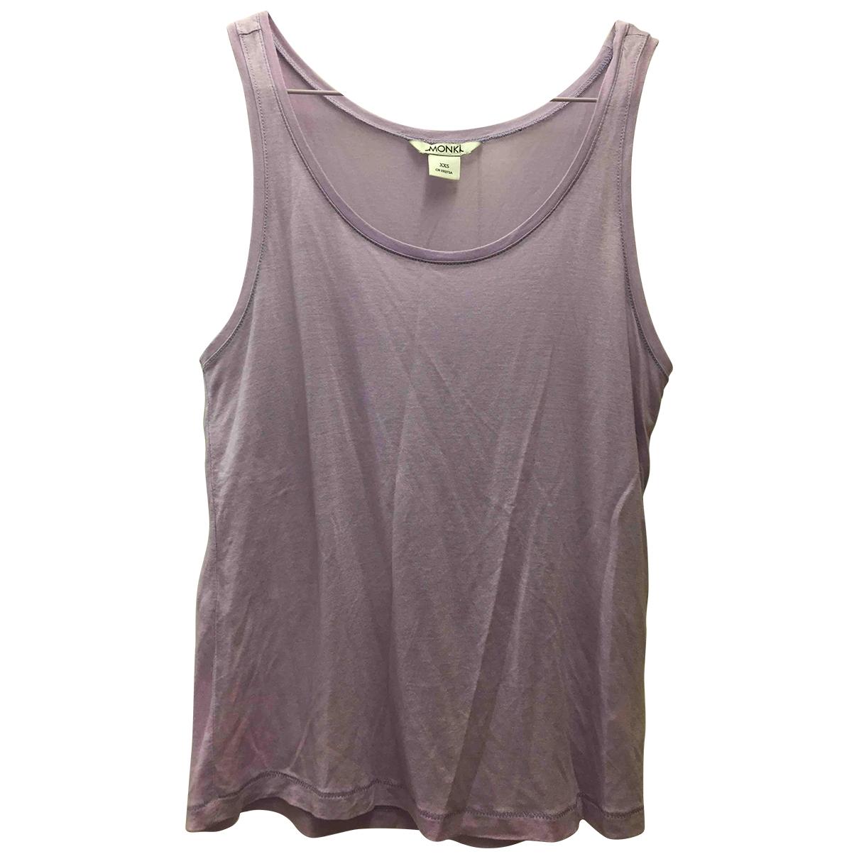 Monki \N Purple Cotton  top for Women XXS International