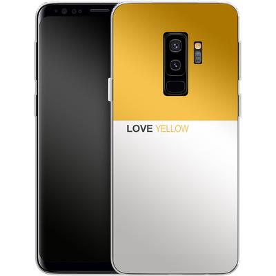 Samsung Galaxy S9 Plus Silikon Handyhuelle - LoveYellow von caseable Designs