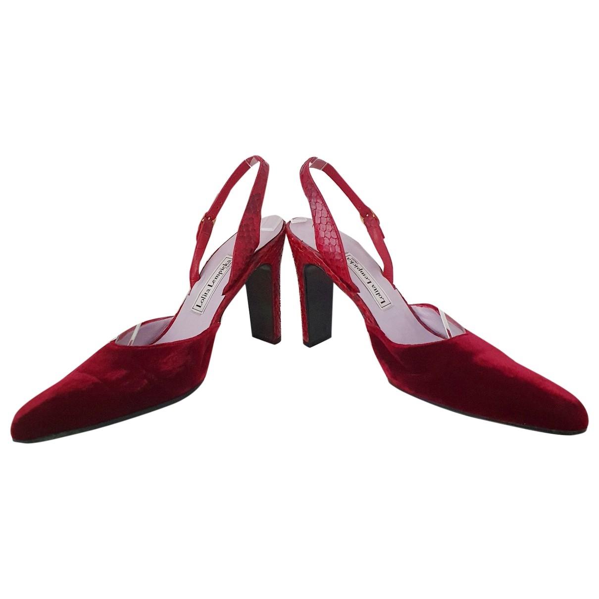 Non Signé / Unsigned \N Red Velvet Heels for Women 37 EU
