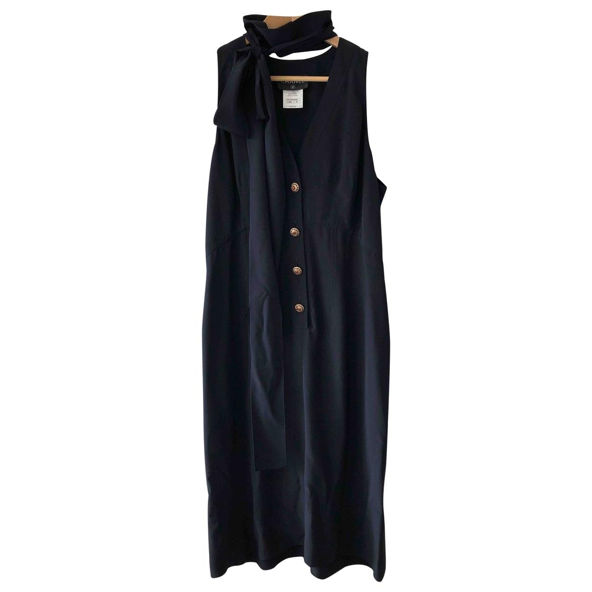 Vestido midi de Seda Chanel