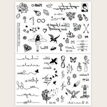 2sheets Graphic Tattoo Sticker