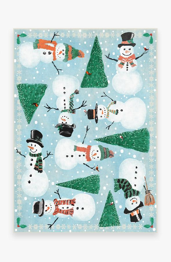 Washable Rug Cover | Snowy Soiree Frost Rug | Stain-Resistant | Ruggable | 5'x7'