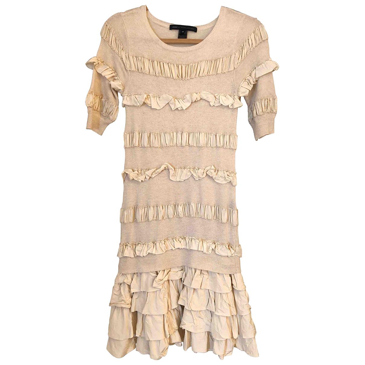 Marc By Marc Jacobs \N Kleid in  Beige Wolle