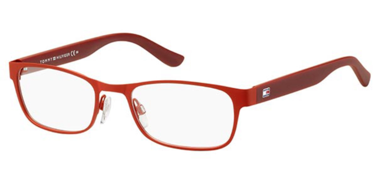 Tommy Hilfiger TH 1421 29E Men's Glasses Red Size 53 - Free Lenses - HSA/FSA Insurance - Blue Light Block Available