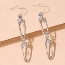 Paper Clip Drop Earrings