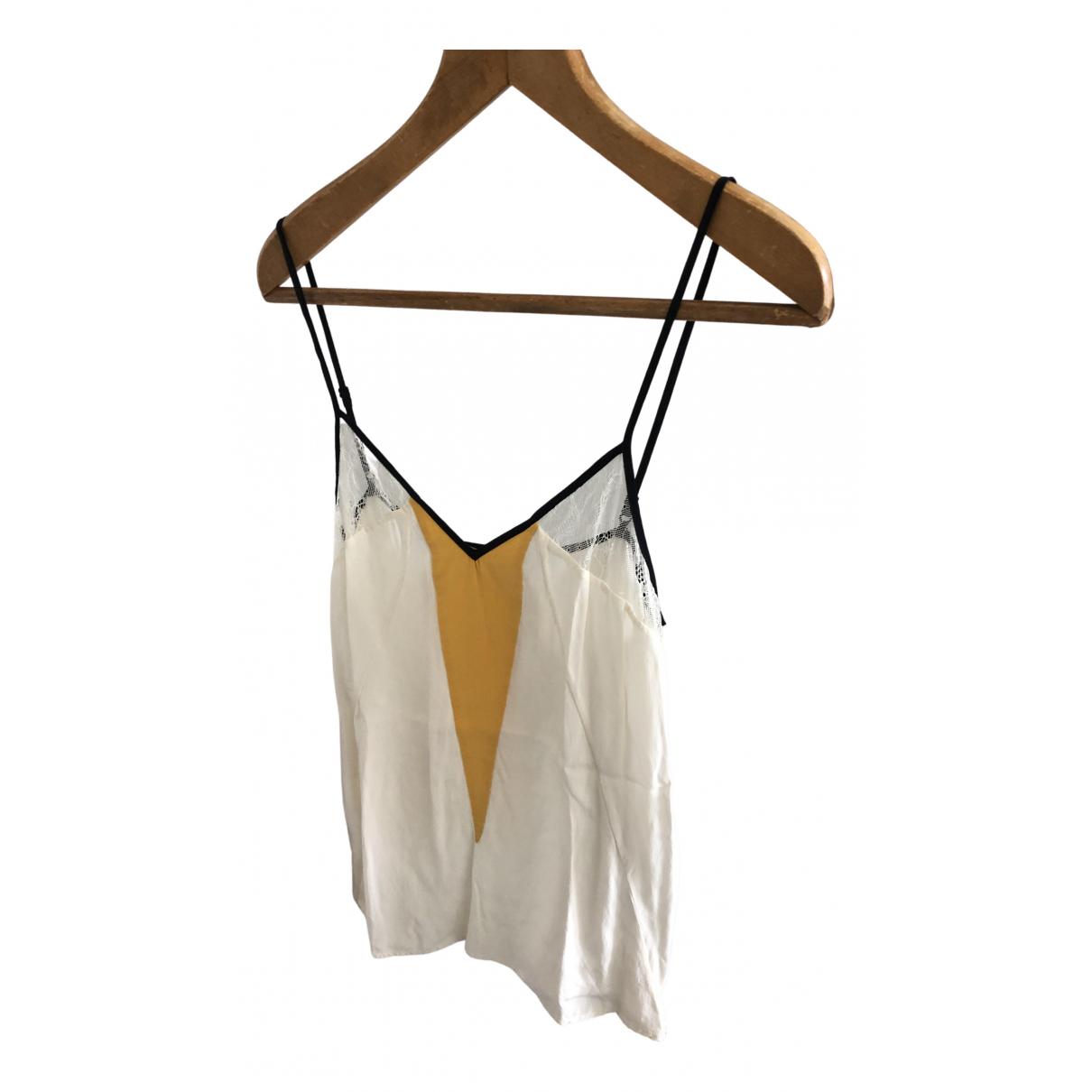 Sandro - Top   pour femme en soie - blanc