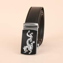 Men Dragon Engraved Buckle Belt
