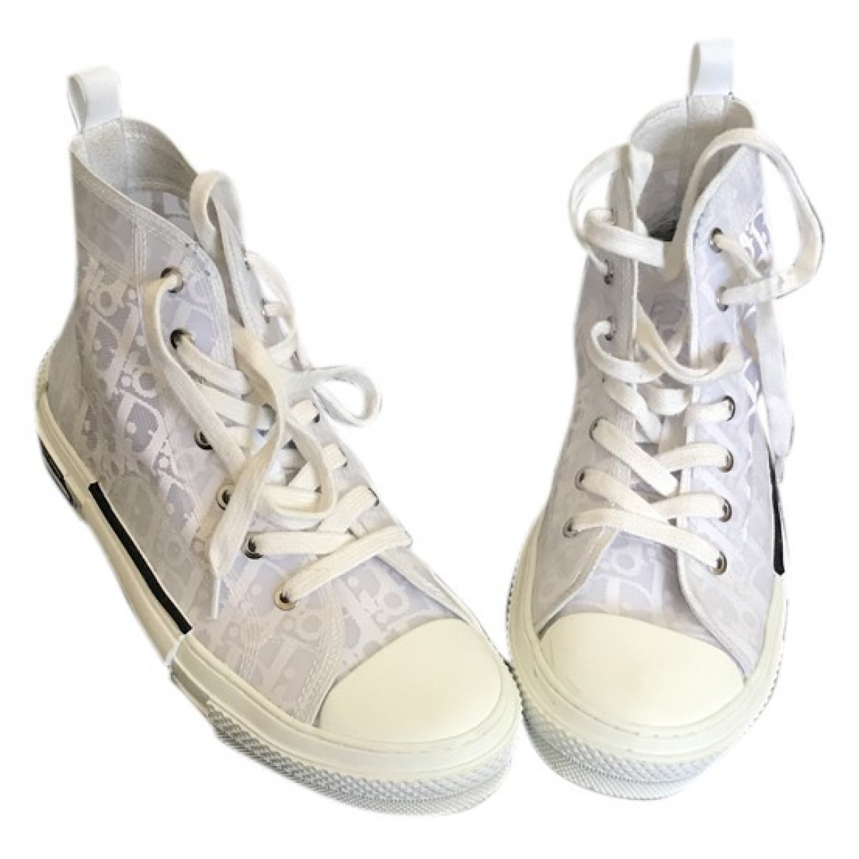 Dior B23 White Cloth Trainers for Women 41 EU