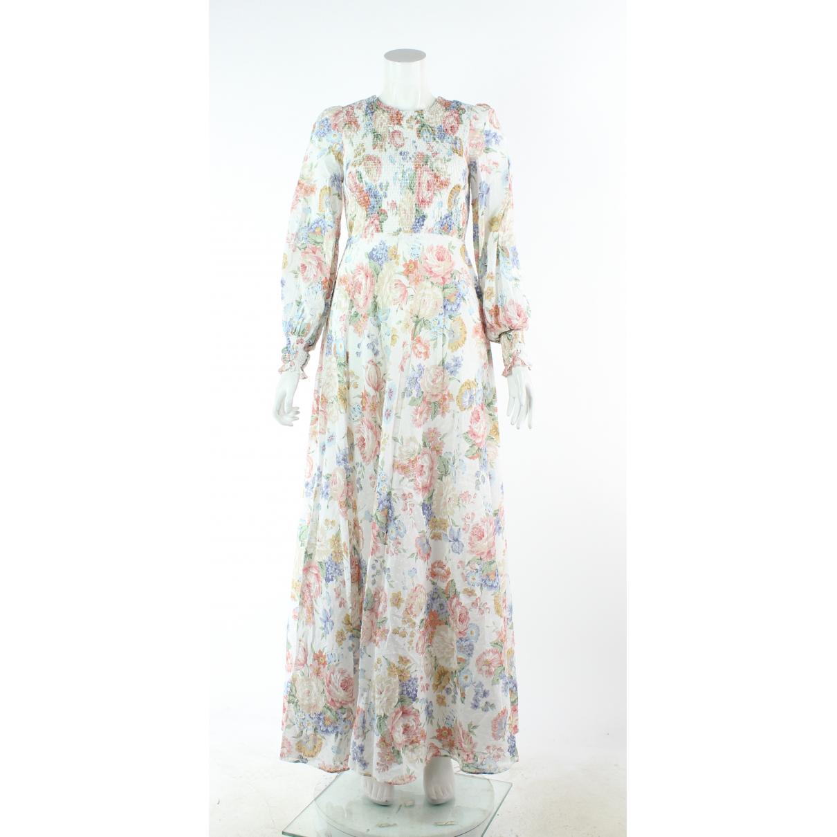 Zimmermann \N Kleid in  Orange Baumwolle