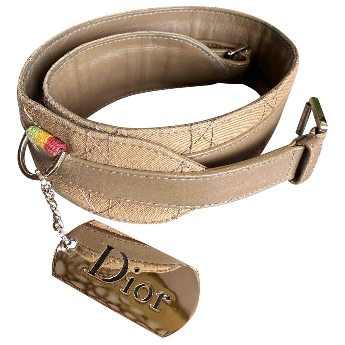 Dior \N Beige Leather belt for Women 70 cm