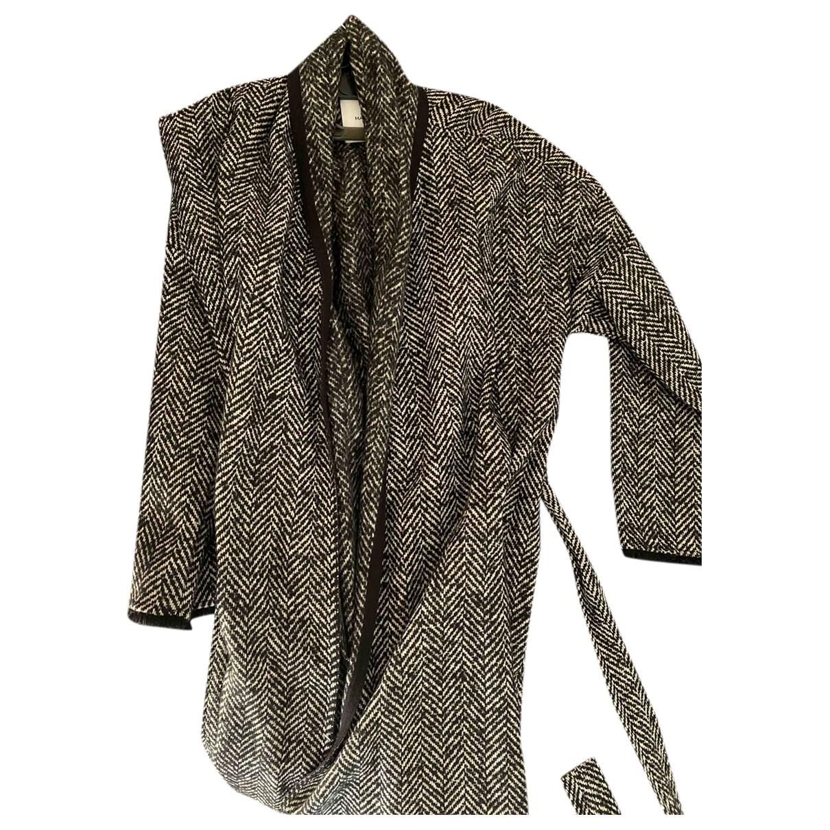 Mango - Manteau   pour femme en laine - noir