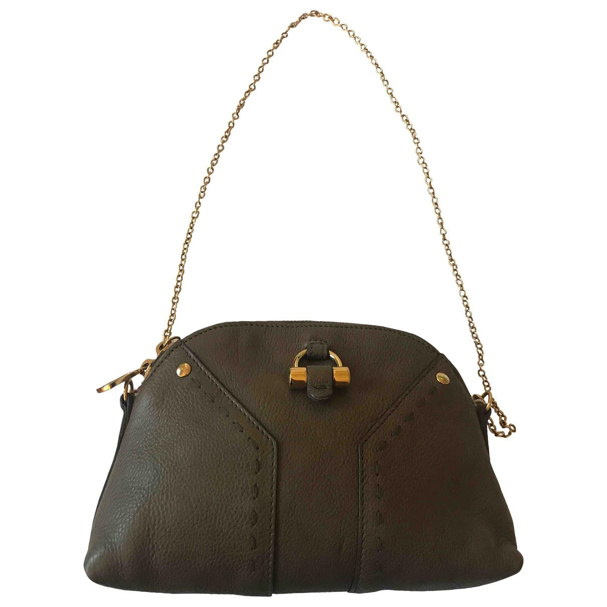 Yves Saint Laurent Muse Handtasche in  Beige Leder