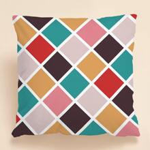 1pc Plaid Cushion Cover Without Filler