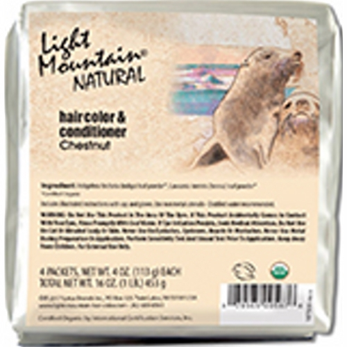 Natural Hair Color & Conditioner Chestnut 16 Oz by Light Mountain