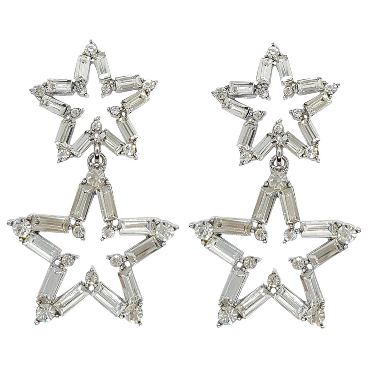 - Boucles doreilles Motifs Etoiles pour femme en metal - argente